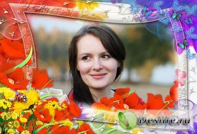 Краски лета - Рамка для фотошопа