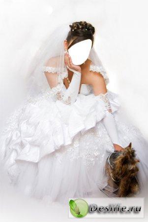 Невеста с собачкой - Костюм для фотошопа