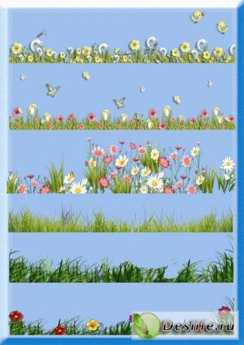 Трава и цветы - Клипарт