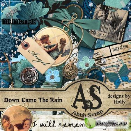 Скрап-набор – Down came the rain