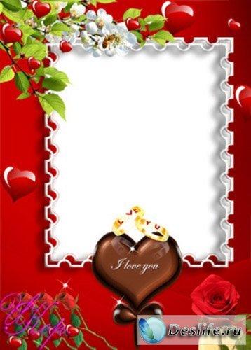 Сердечки - Рамка для фотошопа