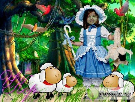 Пастушка - Костюм для фотошопа