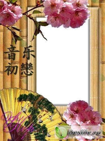 Сакура - Рамка для фотошопа