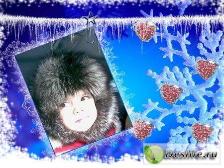 Рамка снежная для фотошопа