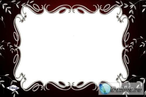 Рамка для фотошоп – Серебряная ива