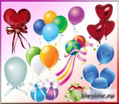 Воздушные шарики - Векторные клипарты