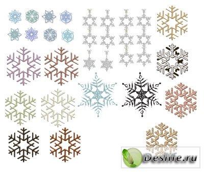 Клипарт – Снежинки
