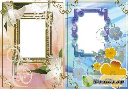 Векторные цветы - Рамки для фотошопа