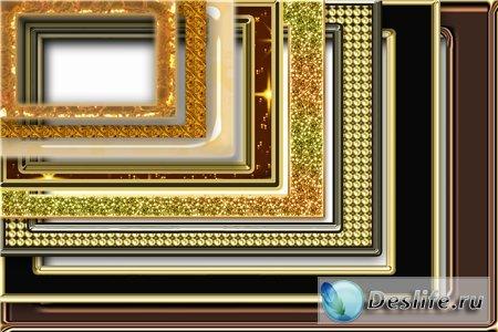 Набор золотых рамочек для фотошопа