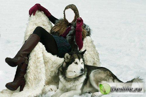 Костюм для фотошоп – Девушка и собачка