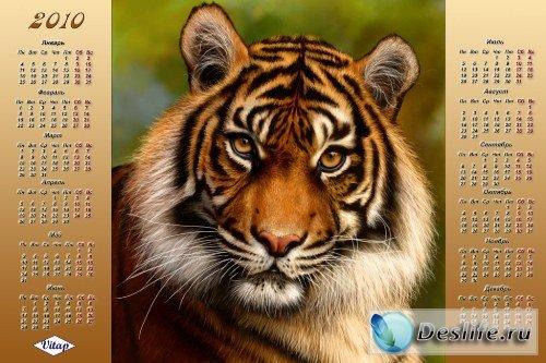 Календарь на 2010 год – Взгляд тигра