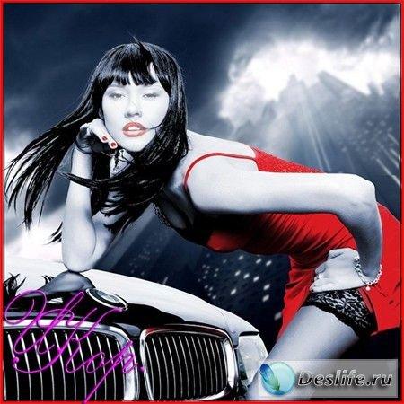 Девушка в красном - Женский костюм для фотошопа