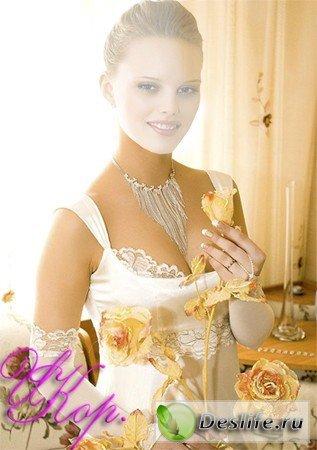 Девушка в белом платье - Женский костюм для фотошопа