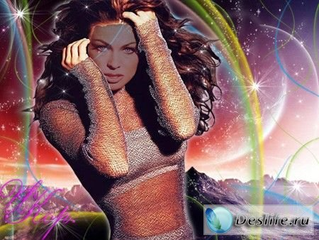 Девушка-Фантазия - Костюм для фотошопа
