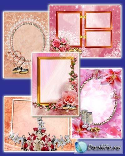В день свадьбы - Рамочки для фотошопа