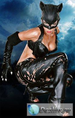 Женщина-Кошка - Костюм для фотошопа