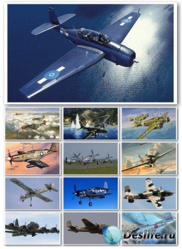 Воздушный бой, самолеты - Клипарт