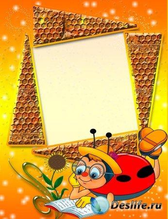 Букашка - Детская рамка для фотошопа