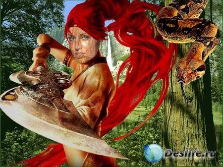 Фэнтези-девушка - Костюм для фотошопа