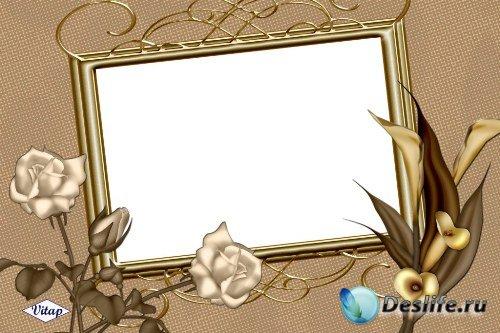 Рамка для фотошоп – Ретро розы