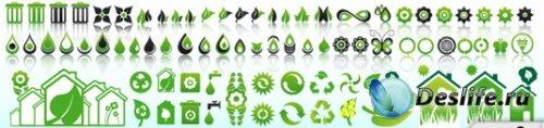 Экологические иконки (Ecology icons)