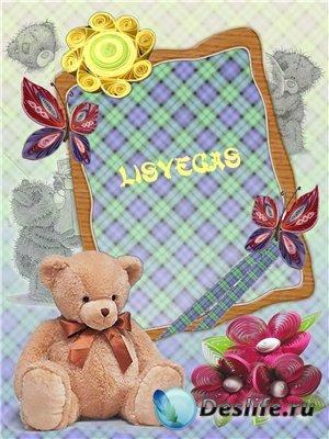 Медвежонок - Детская рамочка для фотошопа