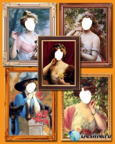 Старинная галерея 3 - 5 Женских костюмов для фотошопа