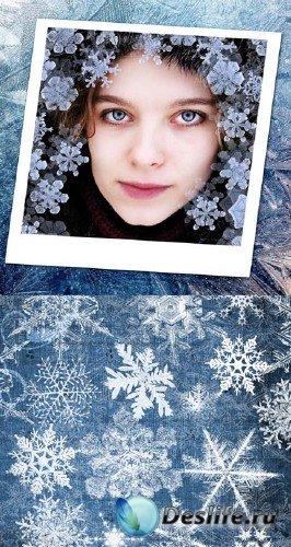 Зимний день (Winter Days Photoshop Brushes) - Кисти для фотошопа