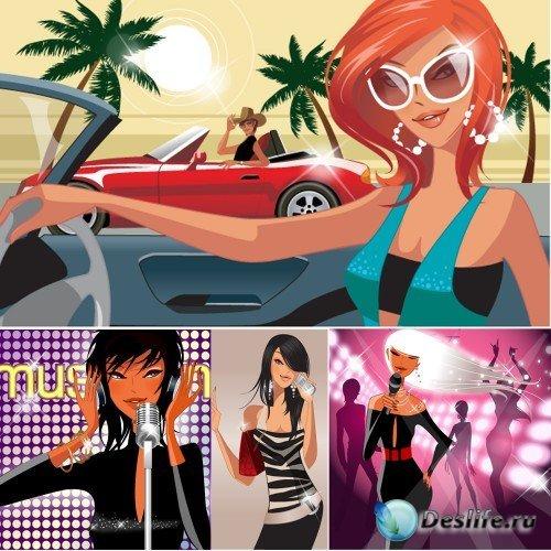 Городские женщины (Fashion City women) - Векторный клипарт от HanMaker