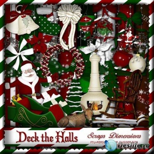 Украшения для холла (Deck the halls) - Скрап-набор
