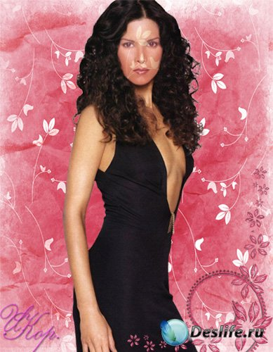Девушка в черном - Женский костюм для Photoshop