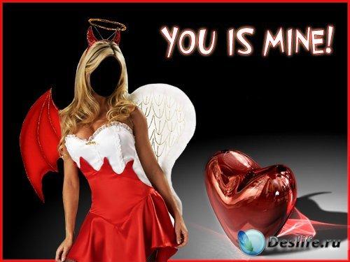 Агел в красном - PSD костюм для фотошопа