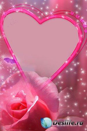 Романтическая - Рамочка для фотошопа