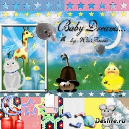 Baby Dreams - Векторный Скрап-набор