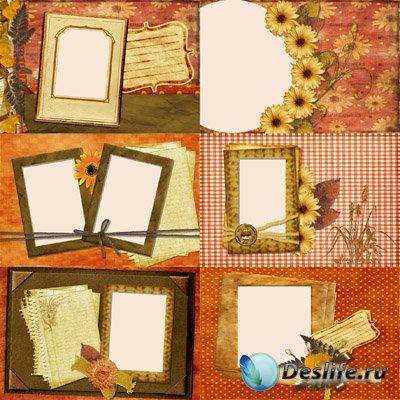 Подсолнухи - Рамки для фотошопа