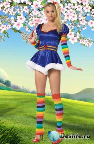 Волшебная палочка - Женский костюм для фотошопа