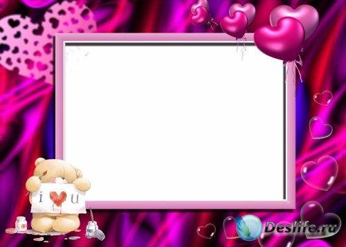 Рамка для фотошоп – Love! / Любовь!