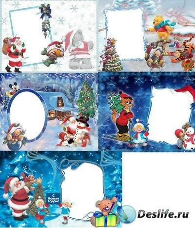 Детские зимние рамки для фото