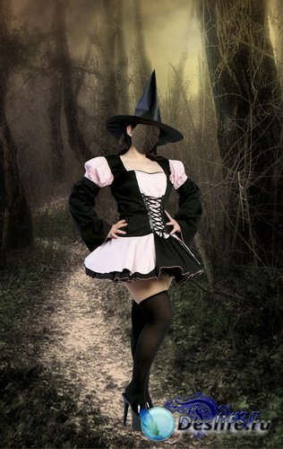 Ведьмочка - Костюм для фотошоп