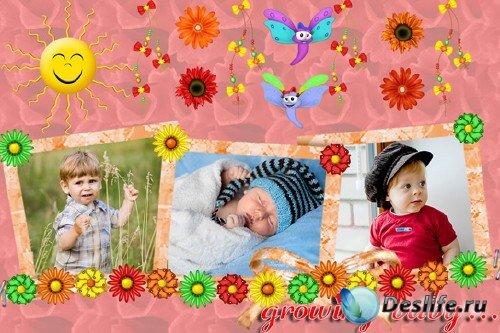 Растет малыш - Рамка для фотошопа