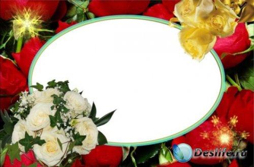 С розами - Рамка для фото