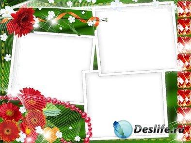 Праздничная суета - Рамка для фотошопа