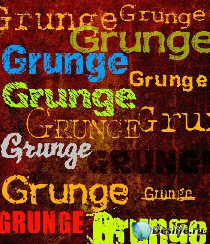 Набор гранджевых шрифтов (Grunge fonts)