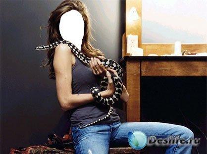 Девушка и змея - Женский костюм для фотошопа