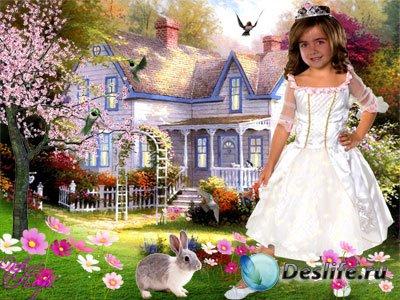 Сказочный домик - Детский костюм для фотошопа