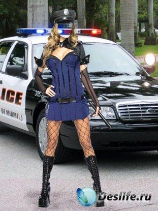 Арестуй меня! - Женский костюм для фотошопа