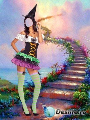Девушка из сказки - Женский костюм для фотошопа