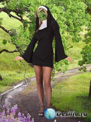 Послушница - Женский костюм для фотошопа