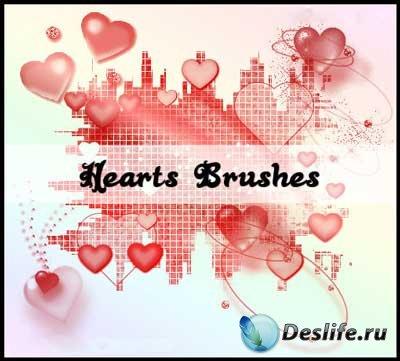 Кисти для фотошопа - Гламурные сердечки