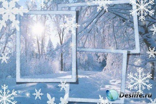 Рамка для фотошоп – Хозяйка-зима